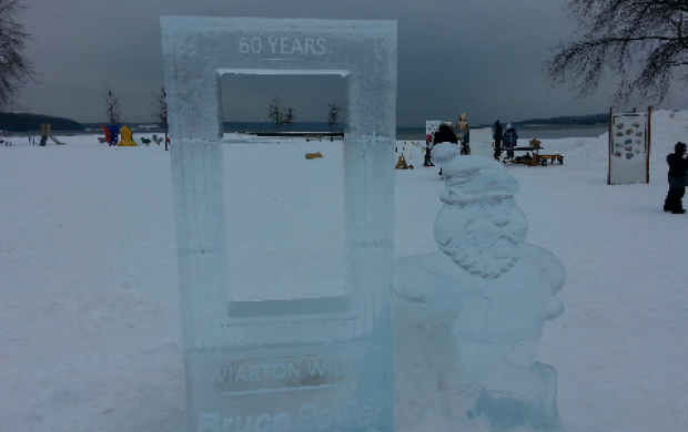 Ice Carving - Bruce Power Picture Frame