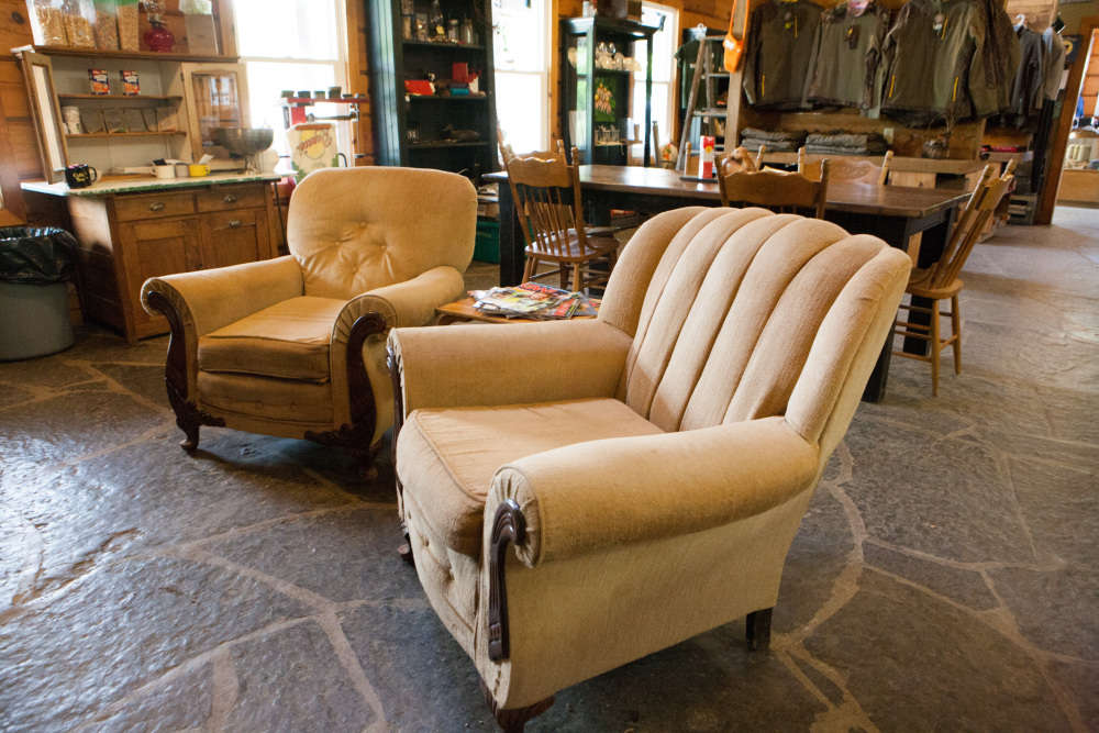 Comfortable chairs to relax in by the fire